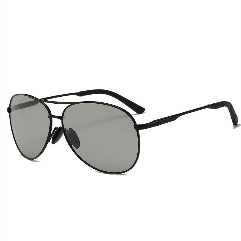 ee2002d8e45d0 Compre 2018 Dos Homens Novos Óculos De Sol De Vidro Polarizada  Fotocromática Óculos De Sol Para Homens Condutores Masculinos De Condução  De Pesca De ...