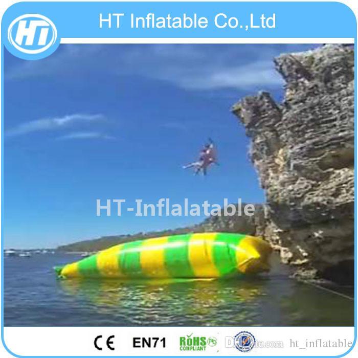 Freies Verschiffen 6x3m Riesen Aufblasbare Wasser Klecks Springen Luftkissenbeutel Für Erwachsene Freies Eine Pumpe