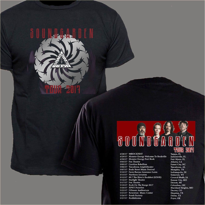 Soundgarden Chris Cornell Tour Dates 2017 New Men Tee Black T Shirt
