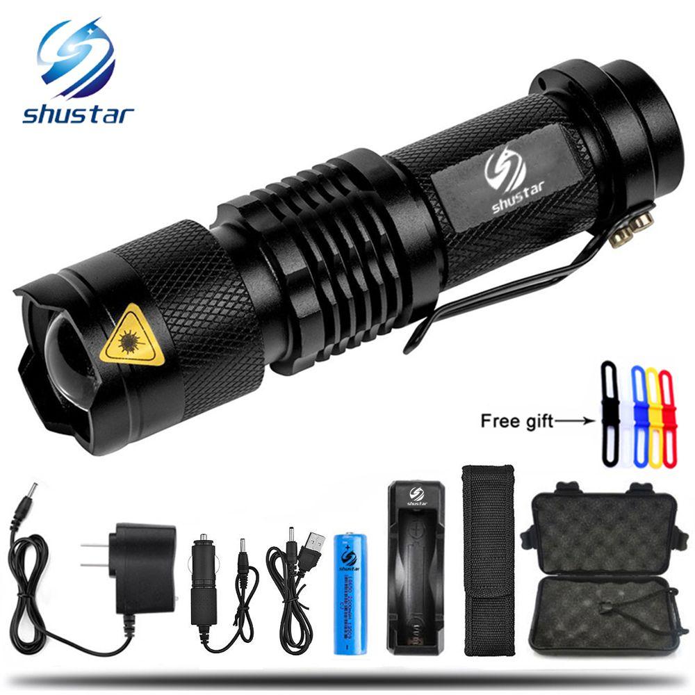 Mode Cadeau Lampe Torch Mini Lumens L2 Zoom 18650 Rechargeable Donne 5 T6 De Led Étanche 8000 Un Gratuit Batterie Poche sdrxBthQC