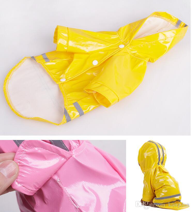 raincoat waterproof for dogs Hooded Pet Dog PU Reflection Raincoats Waterproof Clothe For Small Dogs Chihuahua Yorkie Dog Rain coat jackets