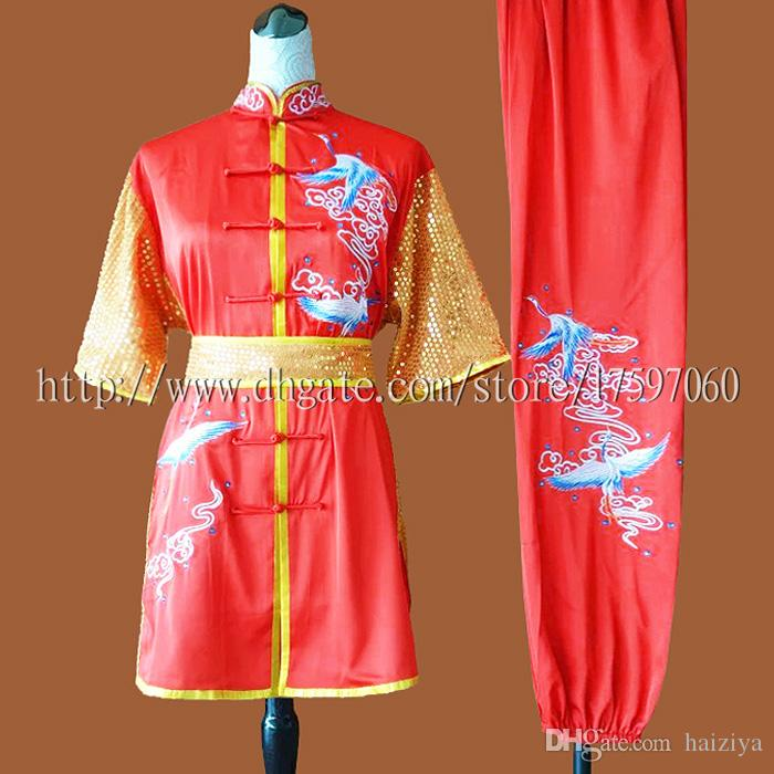 Chinese wushu uniform Kungfu clothes Martial arts suit taolu outfit garment  Embroidered kimono for men women boy girl kids adults children