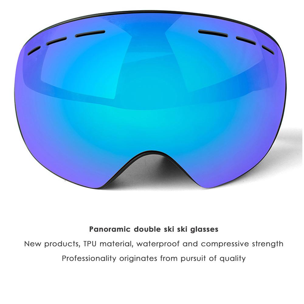 a6452490bd1 2019 Double Layers Snow Snowboard Goggles Outdoor Anti UV Skiing Goggles  Anti Fog Big Vision Mask Glasses For Men Women From Wowsky