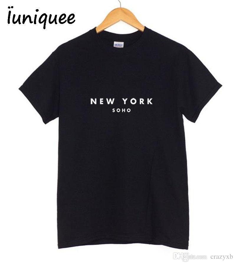 Acquista 2018 Rock Fashion T Shirt Donna NEW YORK Stampa T Shirt Stampata  Donna Summer Band Nuova Top Tee Shirt Femme Women Sakura Clothes A  17.08  Dal ... 17e002c4790
