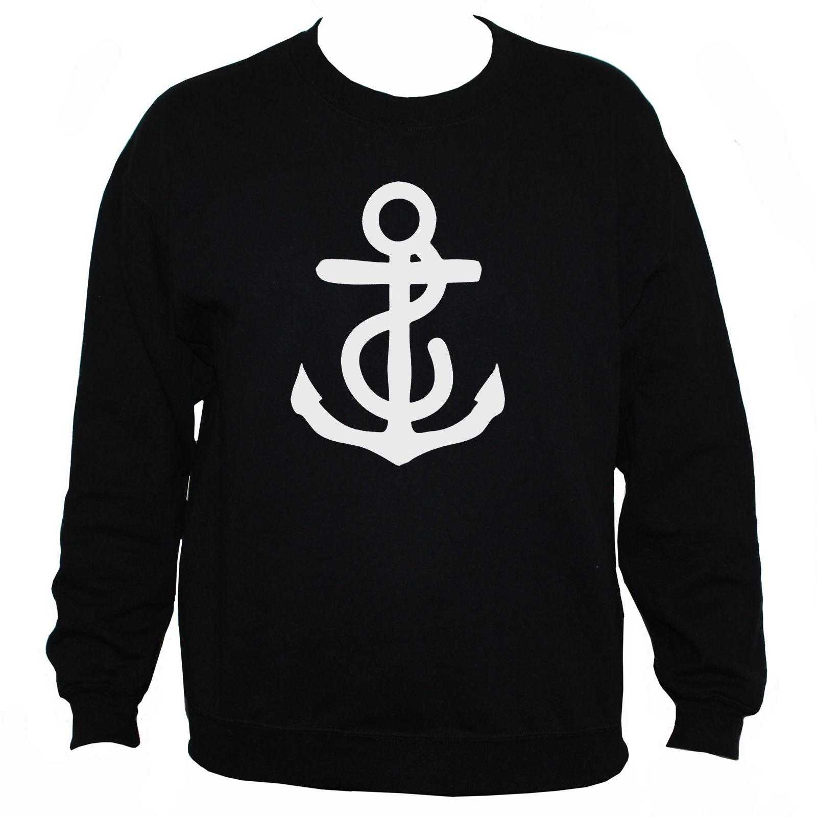 dfb4357bb ANCHOR SWEATSHIRT Nautical Holiday Graphic Printed Jumper Unisex Black/Grey T  Shirt Deals Humor Shirts From Banwanyue8, $15.73| DHgate.Com