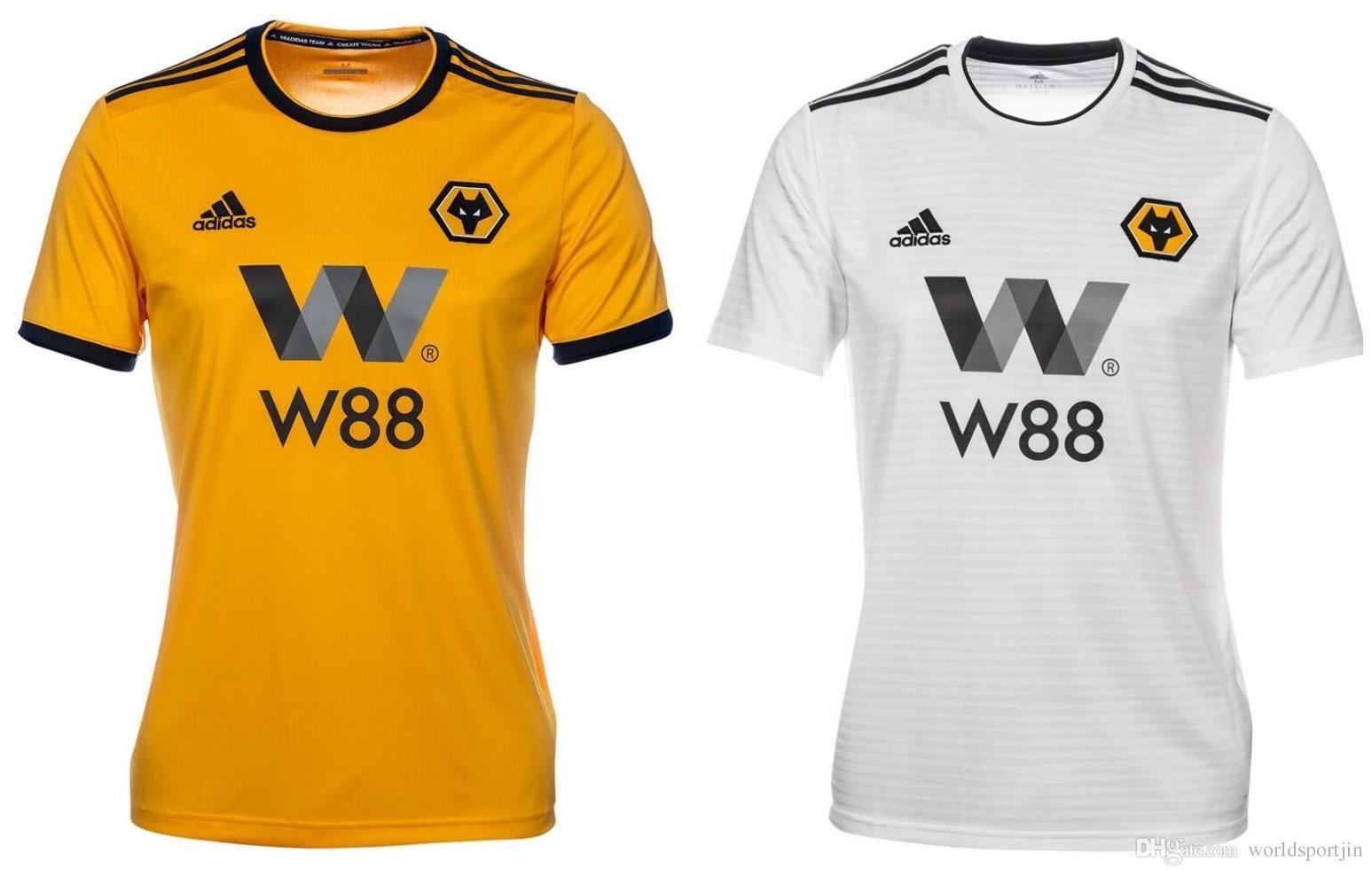 Compre 18 19 Wolverhampton Wanderers Camisa De Futebol Home Amarelo Jota  Away White Leo 2018 2019 Cavaleiro Camisas De Futebol Personalizadas De ... 14eb2930422d6