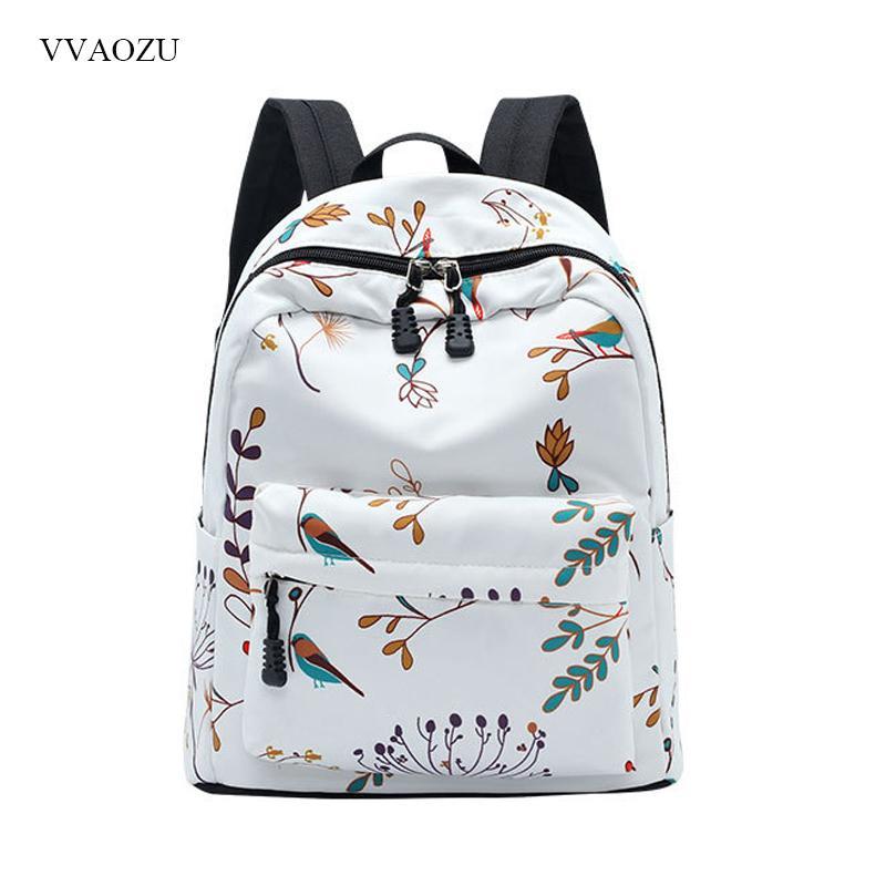 e047fce9b53 Women Laptop Backpack For Teenage Girls Travel Backpacks Shoulder School  Bag Floral Printing Female Rucksack With Key Holder Girl Backpacks Toddler  Backpack ...