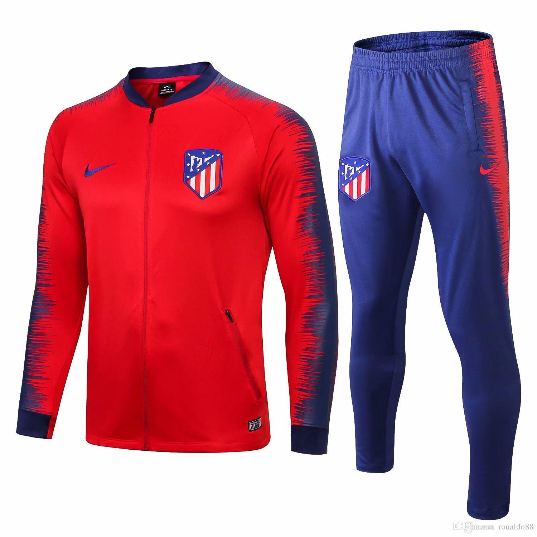 Compre Mejor Venta De Nuevo 18 19 Temporada Chaqueta Del Atlético De Madrid  Costa Hernández 2018 2019 Hogar Chándal Camiseta De Fútbol Traje De ... df41cac4677a2