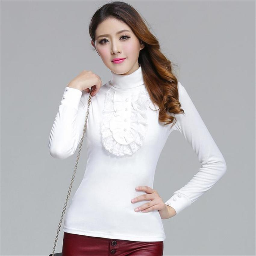 Merry Pretty Autumn new women's full sleeve lace patchwork pullover sweaters women knitted turtleneck sweater plus size 4XL