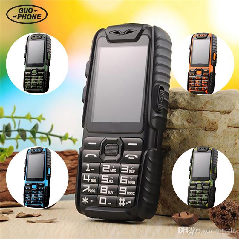 Guophone A6 Cellulare 9800 mAh superbattery Banca di alimentazione Telefono Daily Tri-proof 2G Dual Sim 2.4