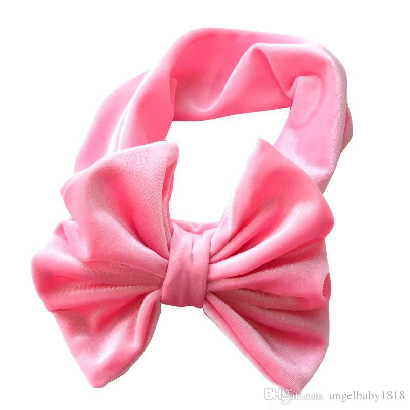 New Christmas Toddler Princess Bow Headbands Infant Baby Girls Velvet Hairbands Babies Stretchy Hair Accessories