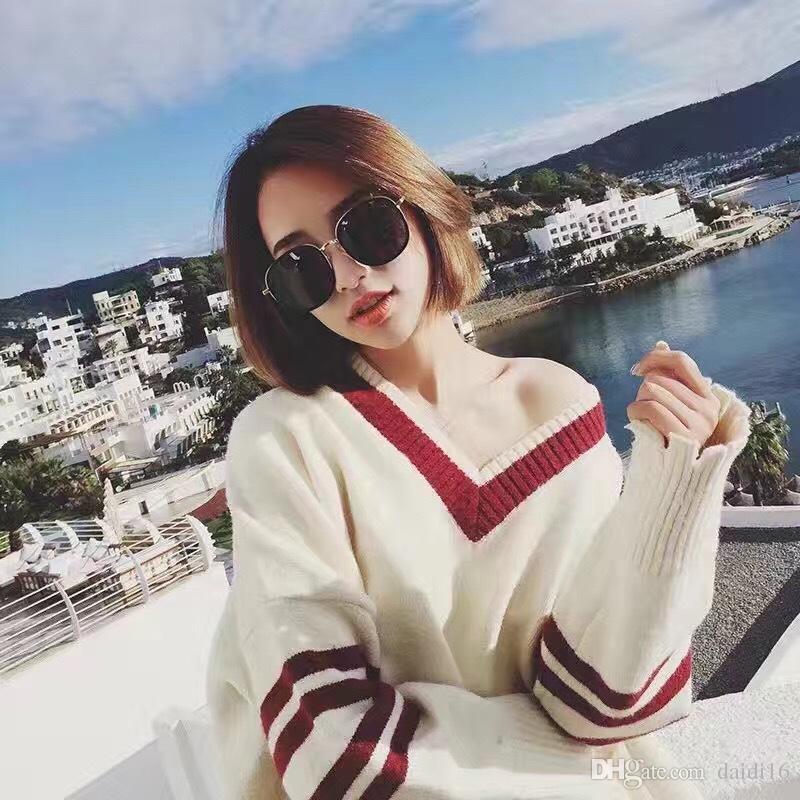 Verão uv proteção óculos de sol moda rodada óculos de sol modelos femininos frete grátis
