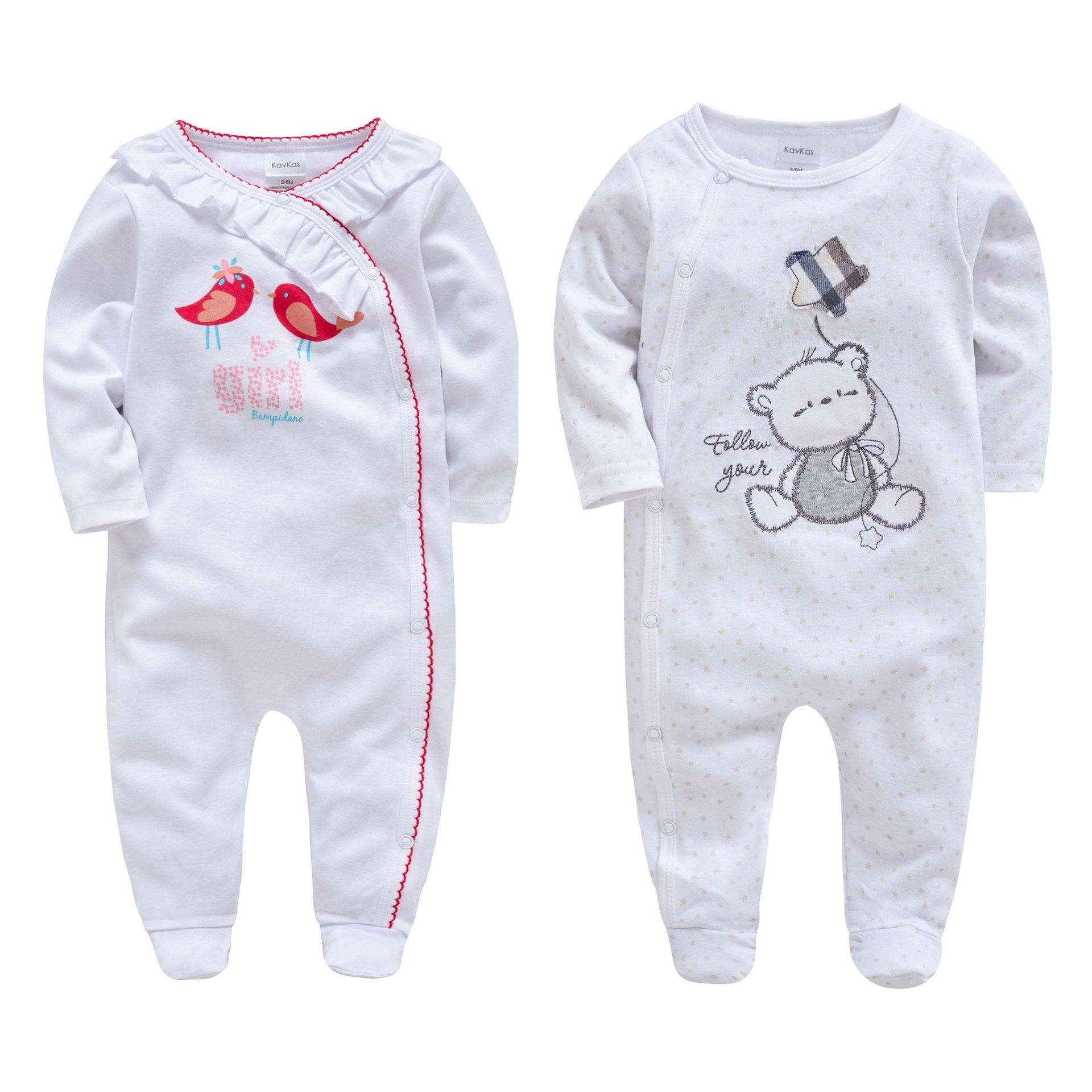 fcabbe931a17 2019 Morningtwo Newborn Baby Boys And Girls Romper Clothes Long ...