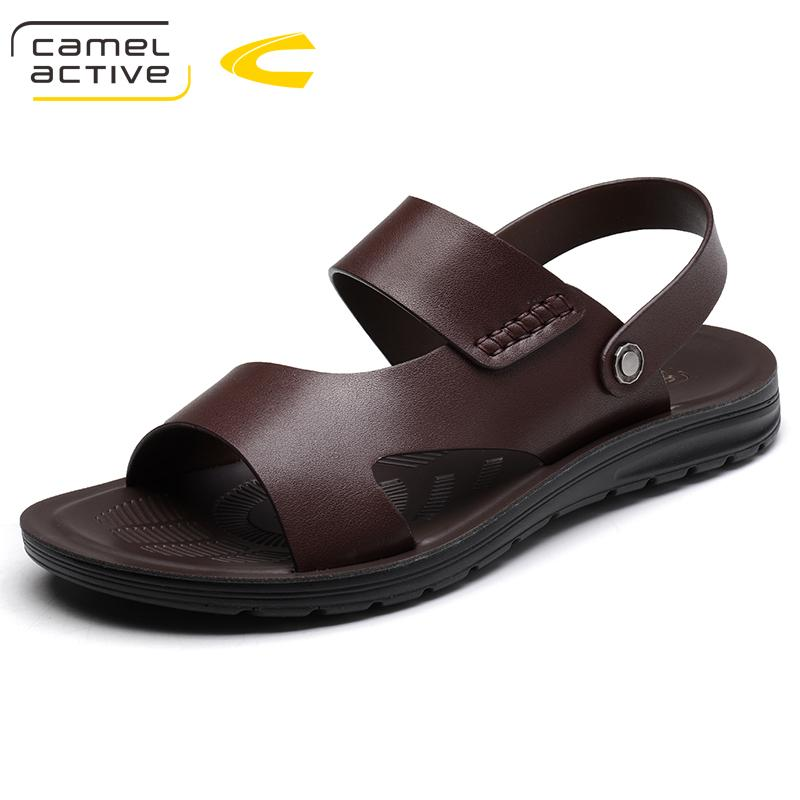 Camel Active 2018 New Summer Shoes Fashion Summer Sandals Style Pu Leather  Male Sandals Men Shoes Casual For Man 18101 Jelly Sandals Platform Sandals  From ...