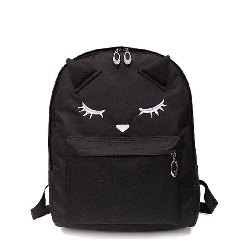 Women Black Pink Nylon Cute Kawaii Backpack Travel Laptop Teen Backpacks  Rucksack Schoolbag School Bag For Teenage Girls Student Backpacks For  College ... 674292c5d3d9c