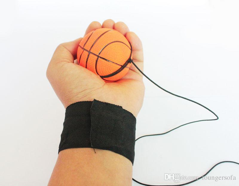 رمي كرات نطاط المطاط الاطفال مضحك مطاطا رد فعل التدريب المعصم باند الكرة للخارجية لعبة الجدة 25xq uu