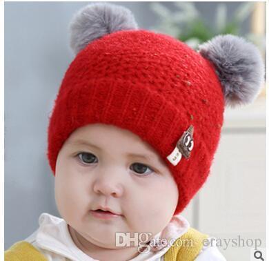 5d8a36c22afe Baby Venonat Hats Wool Knitting Autumn Winter Caps Kids Photography ...