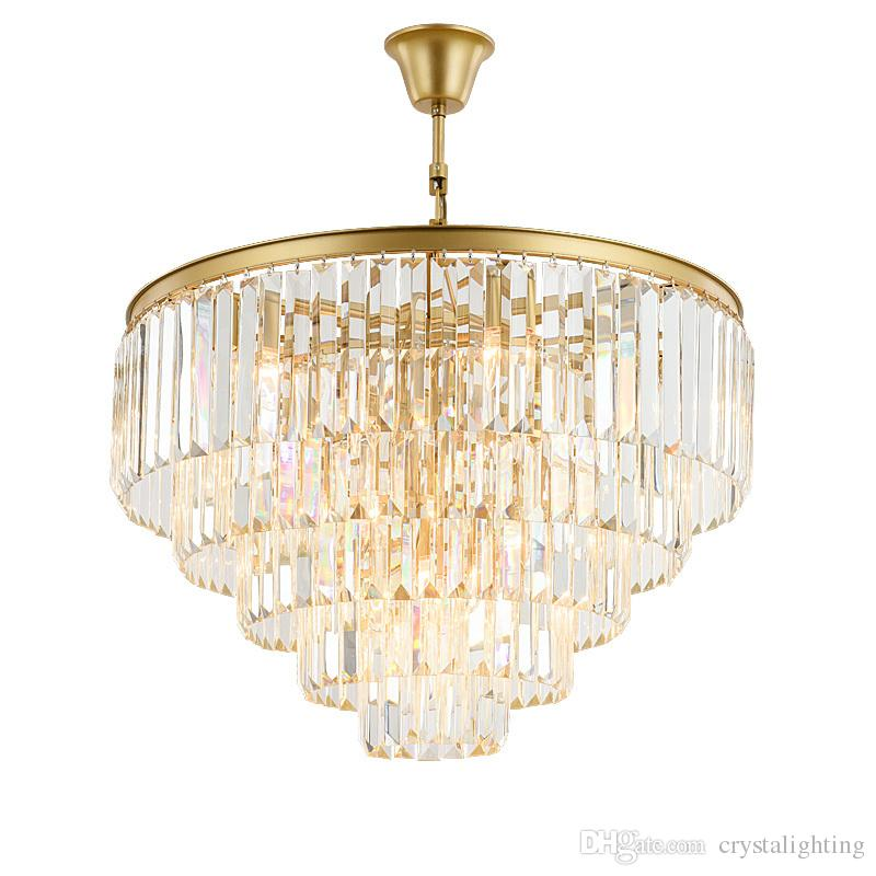 Modern Crystal Chandelier Lighting French Empire Golden Crystal