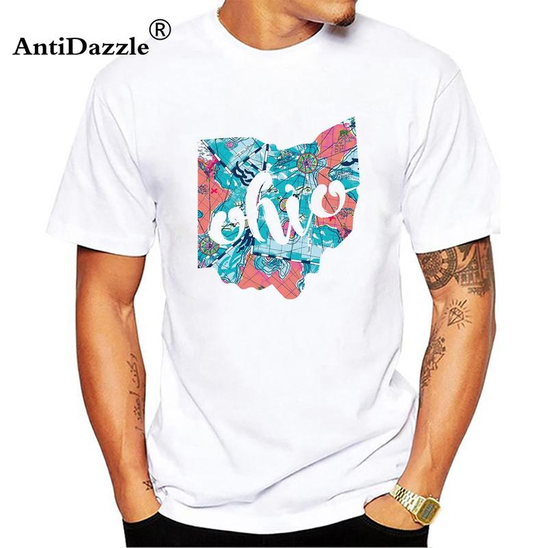 ccebef02ecc57 2018 Summer Men New White Lilly Pulitzer Printed T Shirt Ohio State Lilly  Patte Short Sleeve T-Shirt Funny Clothes