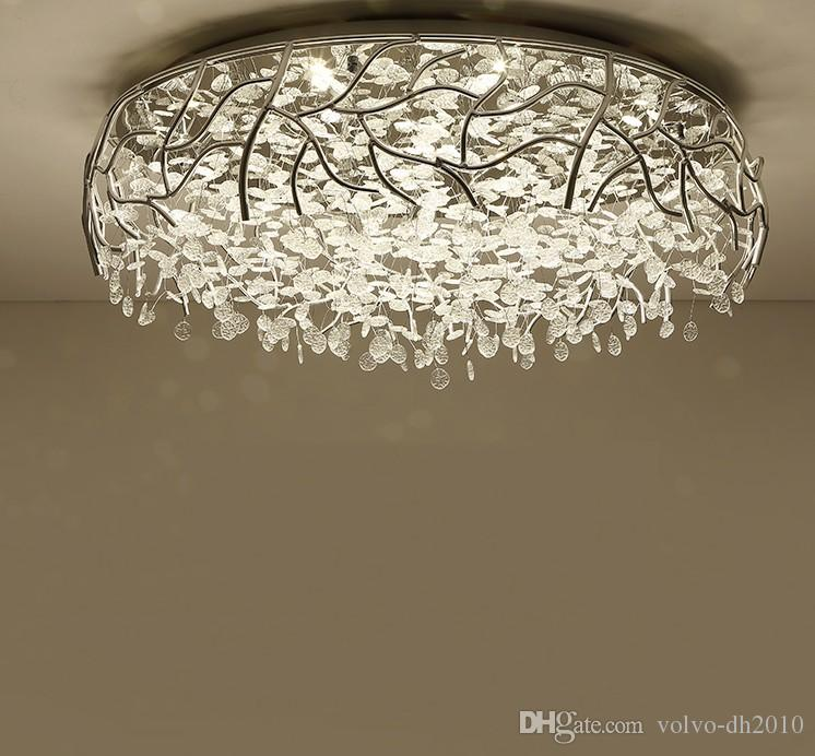 2019 LED Modern Crystal Ceiling Lights Nordic Living Room Fixtures Novelty Bedroom  Ceiling Lamps Iron Glass Ceiling Lighting LLFA From Volvo Dh2010, ...