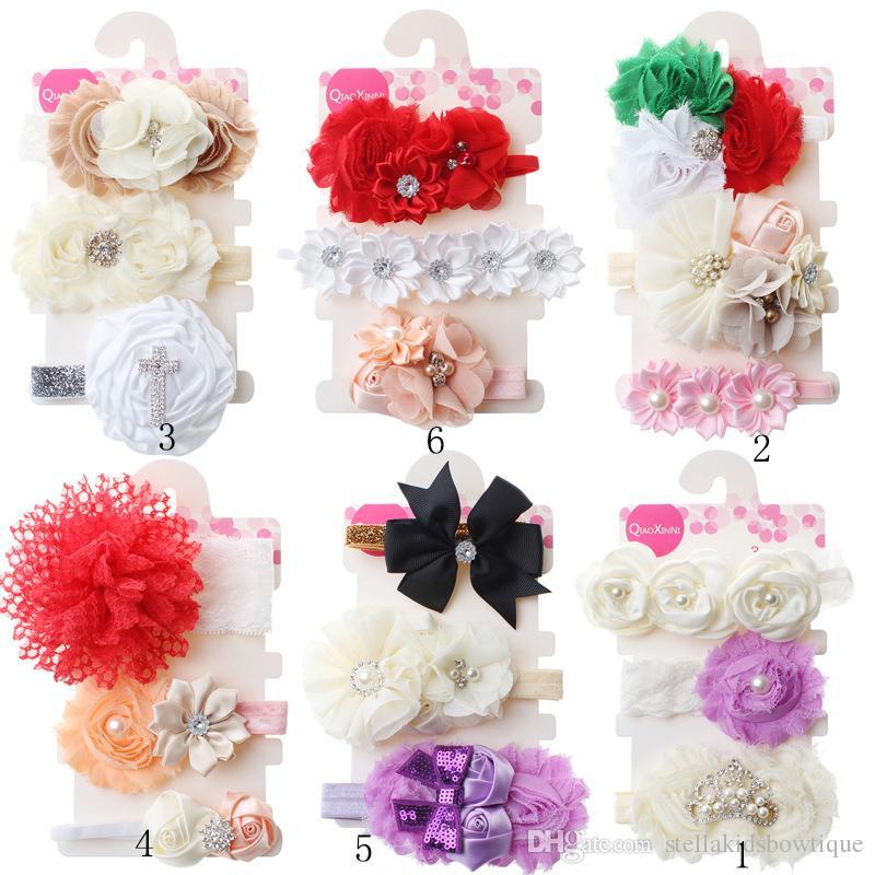 Mode Nette Kinder Mädchen Stirnband Kinder Mädchen Nette Bowknot Band Blume Design Haarband Headwear Haarband Zubehör