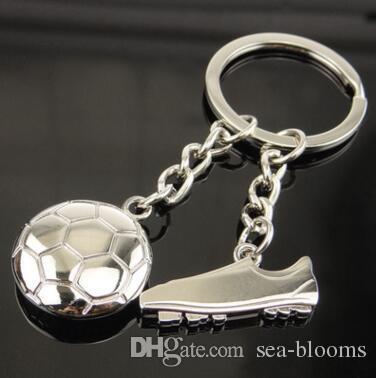 Sport Ball Racket Key Ring Metal Keychain Making Parts Golf Key Chain Badminton Tennis Accessories Creative Novelty Gift Free DHL D520L