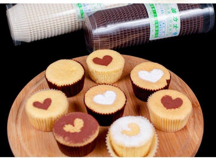 Environnment Mini Cake Paper Foil Anti oil Waterproof Anti Sticky Heat Resistant Baking Cookie Pancake Cupcake