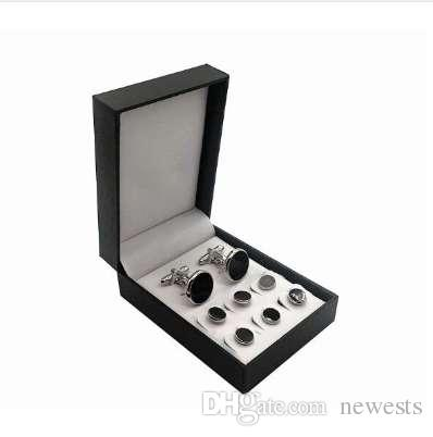 2c3b424b6d9 2019 Set Cufflinks Tuxedo Studs Set Cuff Links Button Set With Without Box  Men S Jewelry Accessory Wholesale From Newests
