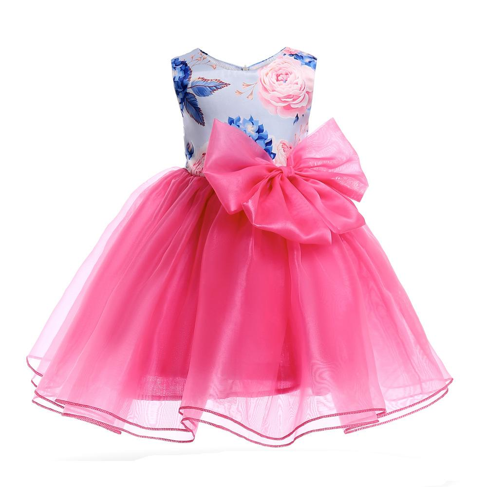 2019 Children Clothes Girl Print Sleeveless Organza Tutu Dress Wedding Formal  Party Dresses Children S Costume Teenager Prom Designs From Sophia120 b0a8aef7e1ff