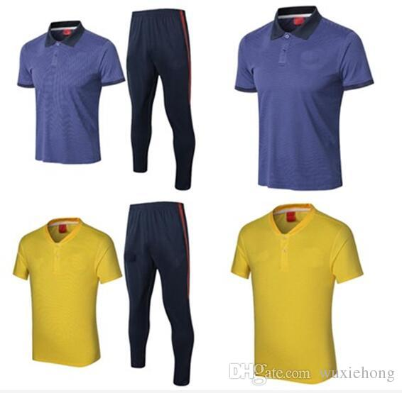 2019 Top Quality 2018 PSG POLO Training Suit Yellow Blue 18 Paris Neymar Jr  GLROUD HAZARD Dybala Titto SOCCER Trainning Suit S XL From Wuxiehong 293cc1ee0