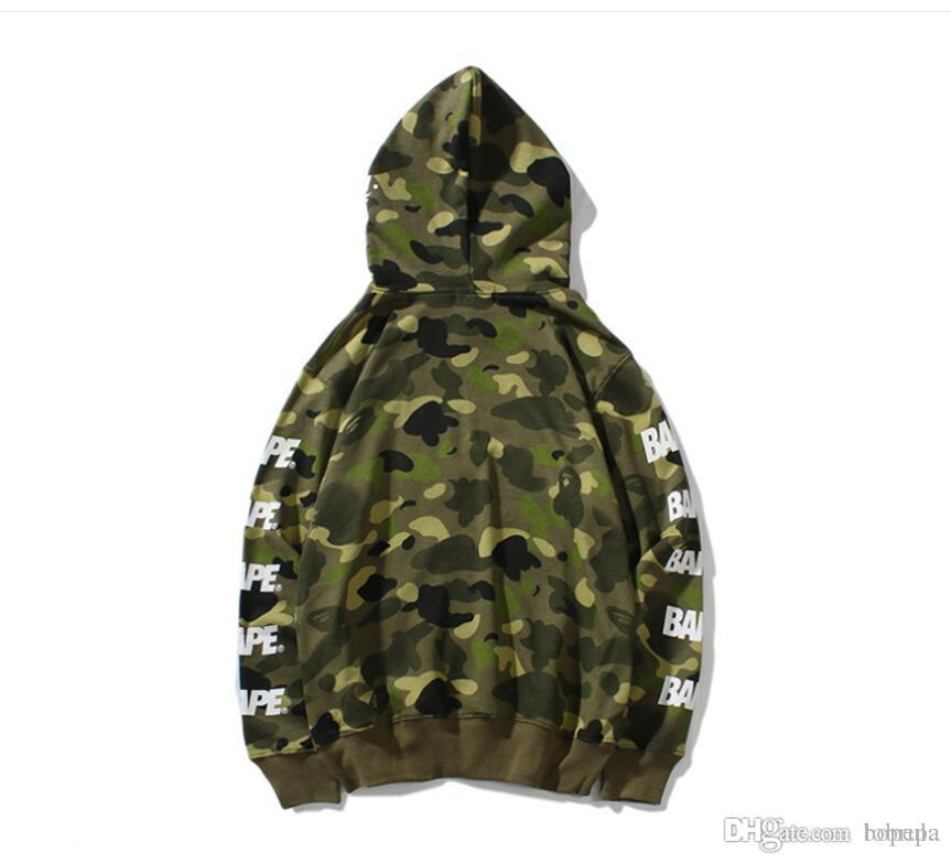 fafaf79f0c3 2019 Plus Size Men Jackets Coat Autumn Sweatshirt Hoodie Camouflage  Windproof Long Sleeve Brand Designer Hoodies Zipper Mens Clothing Hooded  From Bopepa