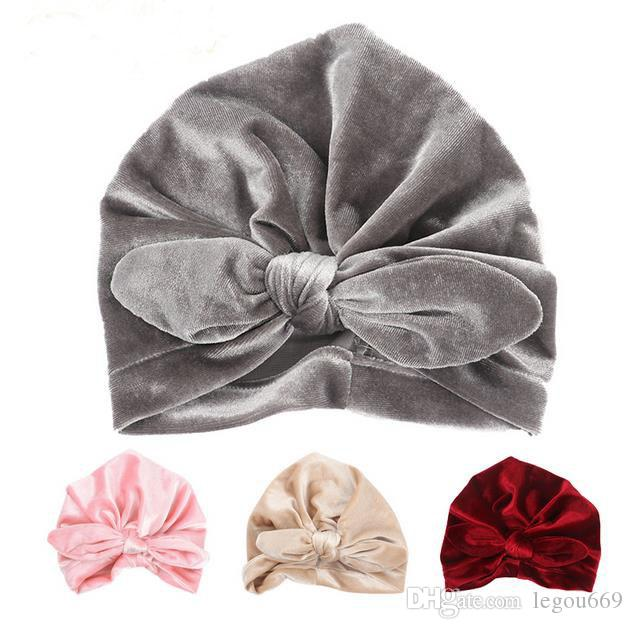 New Velvet Baby Hat For Girls Autumn Winter Baby Boy Cap Photography Props  Elastic Infant Beanie Turban Hat Baby Accessories GA437 UK 2019 From  Legou669 6a03fa38c126