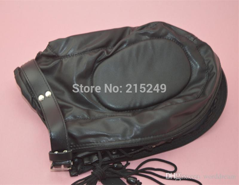 Soft PVC Leather Hood Mask Headgear In Adult Games For Couples , BDSM Fetish Sex Products Toys For Men And Women