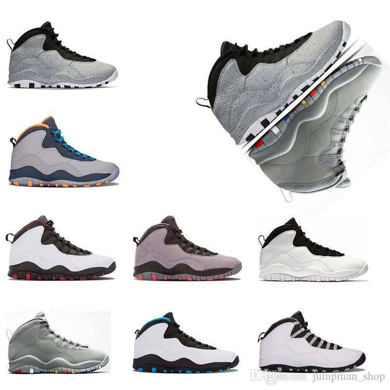 e18c64d97b9348 Cheap Hot Sale Cement 10 Basketball Shoes Westbrook 10s I m Back White  Black Cool Grey Bobcats Chicago Steel Grey Men 10 Sneakers Size 41-47