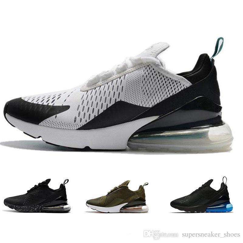 Acheter 2018 Nike Air Max 270 Basketball shoes Haute Qualité 270 Hommes Chaussures Pour Femmes Formateurs Wmns 270 Noir Blanc Occasionnel En Plein Air ...
