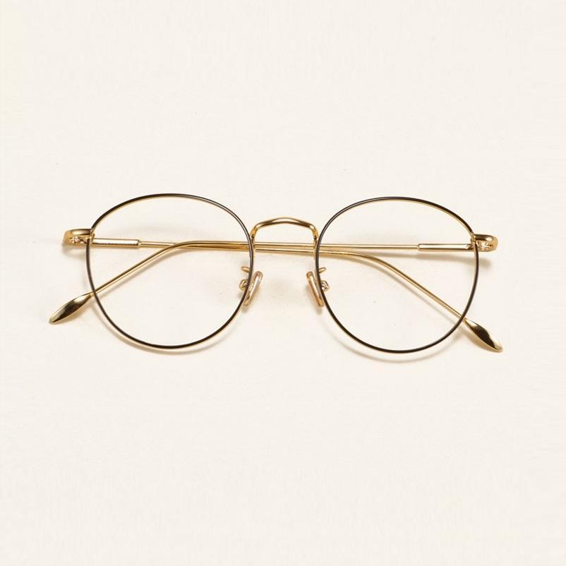 d53c18ca0ae 2019 47 17 134 The Retro Eyeglasses Frame Ultra Light Alloy Thin Metal  Circular Flat Frame Glasses Myopia Female Tide 5211 Male Famle From  Haydena