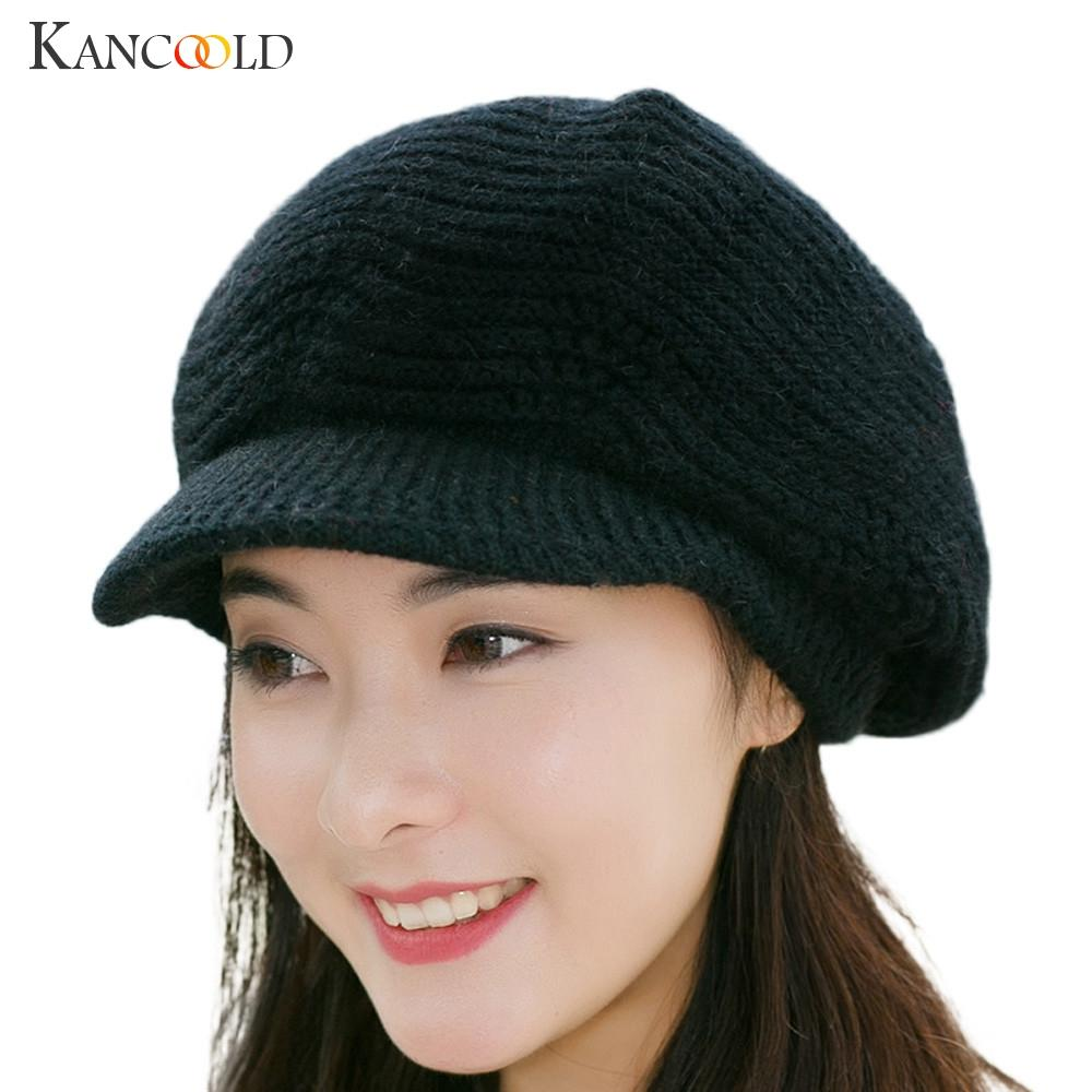 2019 Korean Style Winter Warm Women Knitted Beret Braided Baggy Beanie Hat  Lady Hand Knitting Cap Girl Slouch Cap Dec13 From Ekkk adce55a8e03