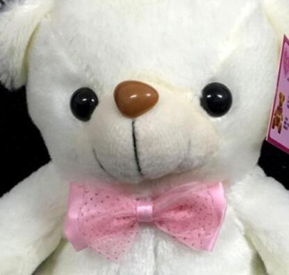 20-22cm bunte LED-Blitzlicht-Bärn-Puppe-Plüsch-angefüllte Spielwaren tragen Geschenk für Kinder Weihnachtsgeschenk-angefüllten Plüsch