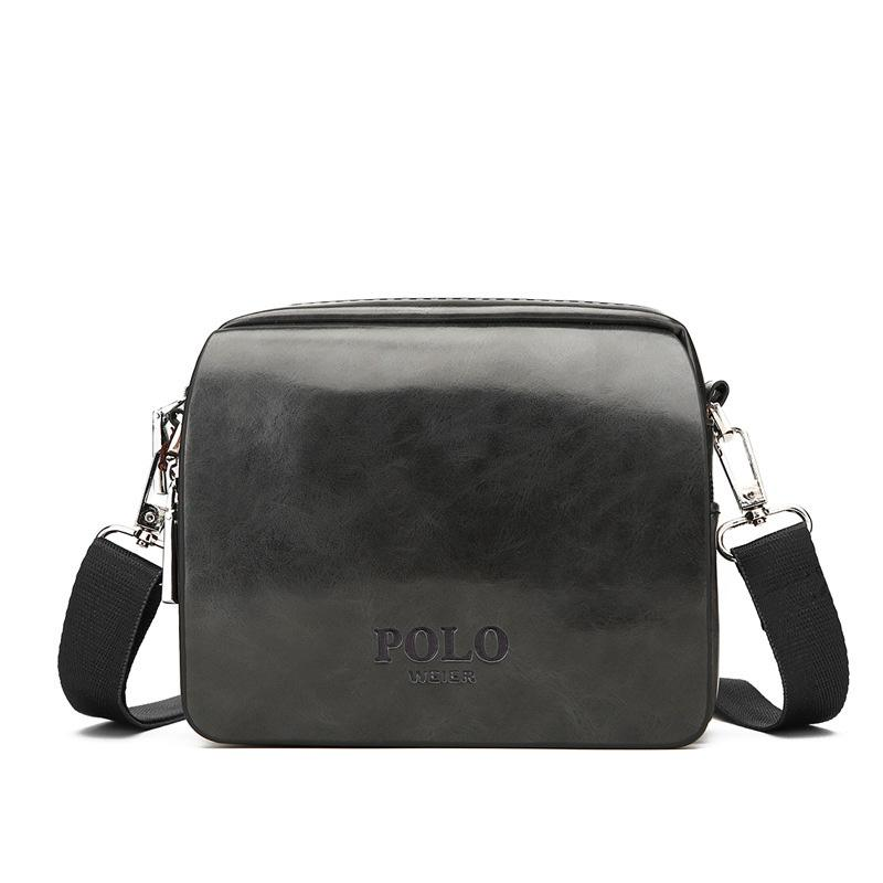 9428fb1906c3 POLO Fashion Business Briefcase Genuine Leather Men Messenger Bags Casual  Men Mini Small Shoulder Bags Handbag Solid Travel Crossbody Purses Designer  Purses ...