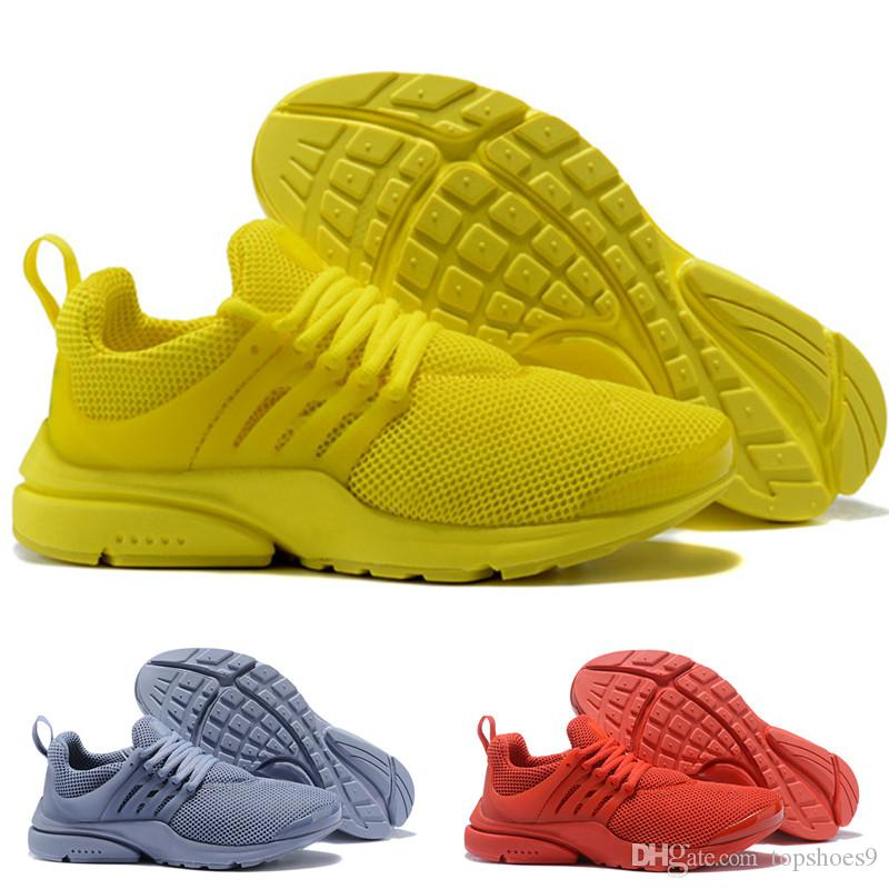 hot sales b30f4 a81d1 2019 Top Quality Presto 5 Running Shoes 2018 Men Women BR QS Breathe Black  White Yellow Sports Outdoor Casual Walking Sneakers trainers36-46