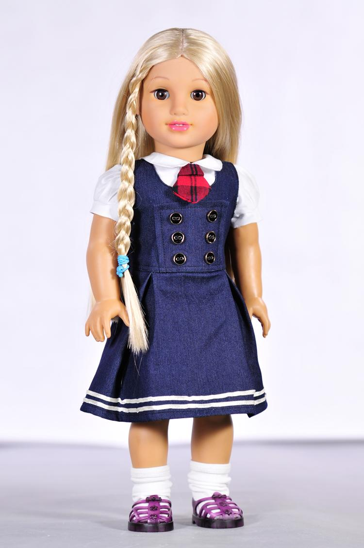 Doll accessories clothes dresses T-shirts, jeans for 45cm American girl and our generation doll