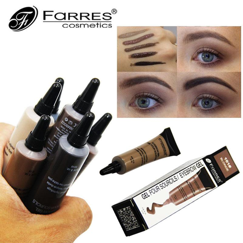 93a6d35816e5 FaRRES Brand Eyebrow Enhancers Long Lasting Eyebrow Dye Tint Gel Waterproof  Easy Wear Henna Eyebrows Eye Brow Cream Makeup Shaping Eyebrows Eyebrow ...
