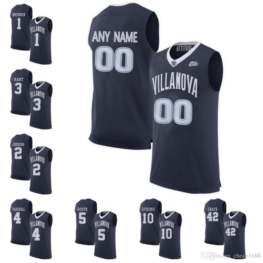 c98474a53 Mens Villanova Wildcats NCAA 4 Eric Paschall 5 Phil Booth 10 Donte  DiVincenzo Stitched Custom Any Name Number College Basketball Jersey UK 2019  From ...
