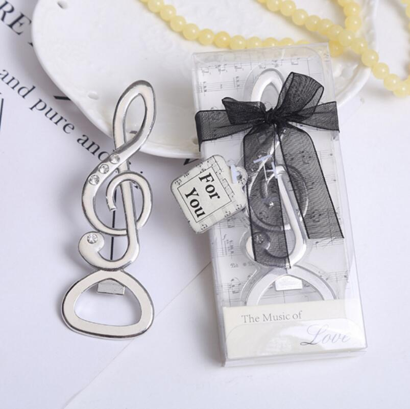 Wedding Favors Gifts The Music Of Love Musical Note Bottle Opener