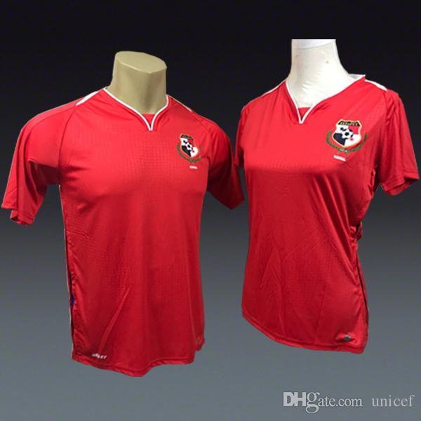 7599eda67d Compre Camiseta De Futbol Panamá Copa Do Mundo 2018 Casa Camisas De Futebol  Vermelho Camisas De Futebol Homens E Mulheres Senhora Kit De Unicef