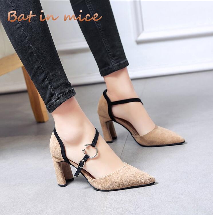 908647625 Compre 2018 Nova Moda De Salto Alto Mais Novo Mulheres Bombas De Verão  Mulheres Sapatos De Salto Grosso Bombas Confortáveis sapatos De Plataforma  Mulher ...