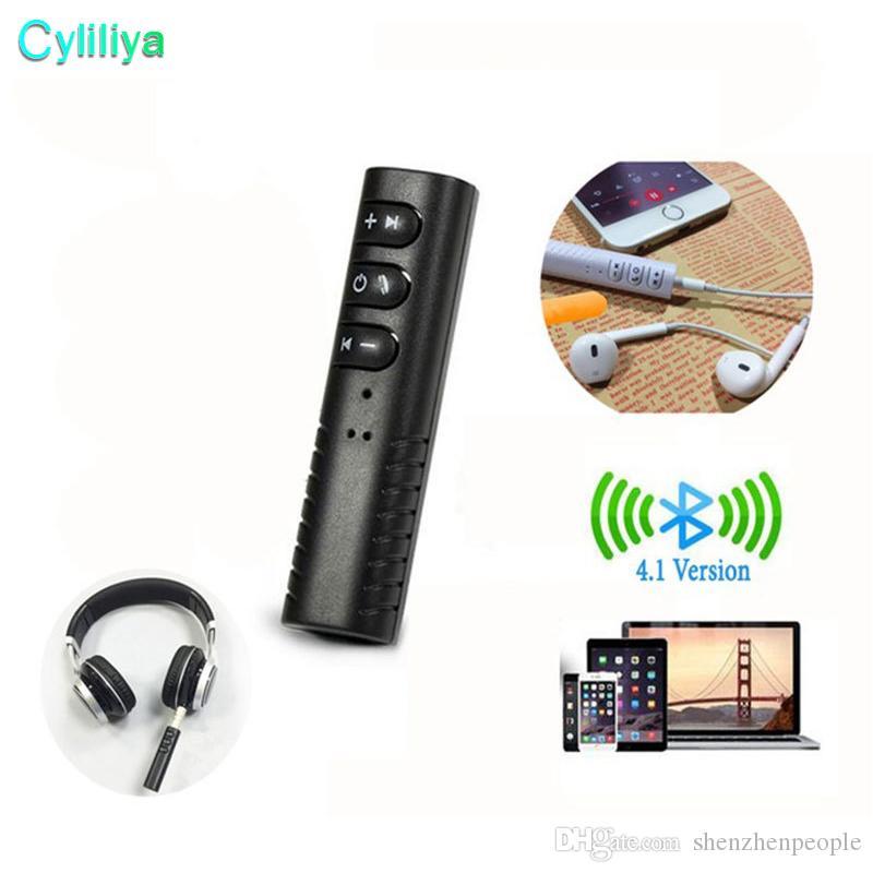 Universal 3,5 mm Buchse Bluetooth Car Kit Freisprecheinrichtung Musik Audio Receiver Adapter Auto AUX Kit für Lautsprecher Kopfhörer Auto Stereo