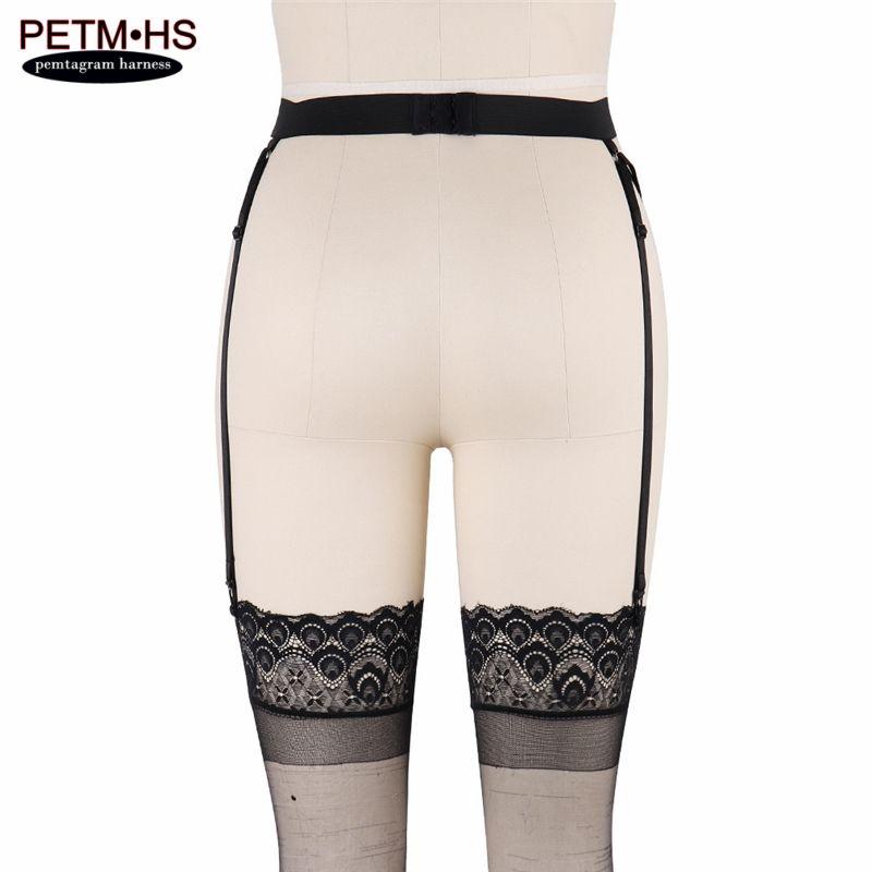 Womens Sexy Garter Belt Black Elastic Body Harness Cage Hollow High waist Suspender Strap Thigh Bondage Underwear wedding Garter