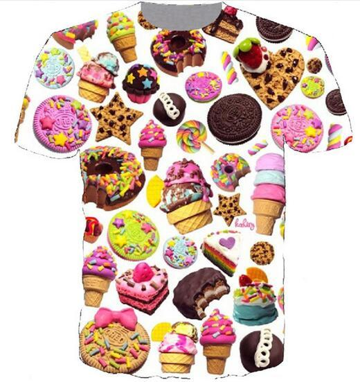 168c0435c New Fashion 3D Print T Shirts Men /Women Unisex Donut Ice Cream Funny  Casual Tee Top Wholesale QA179 Crazy Tee Shirts Online Cool Sweatshirts  Online From ...