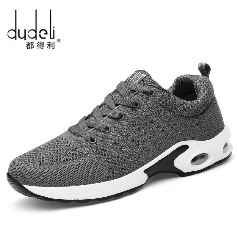 Compre Dudeli Homens Quatro Estações Sneakers Mulheres Sapatos Tênis De  Corrida Rede De Couro Esporte Ar Umedecimento Arena Ao Ar Livre Athletic  Zapatos De ... 40c5213244fcd